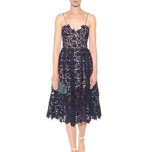 Self Portrait Azaelea Blue Lace Midi Party Dress